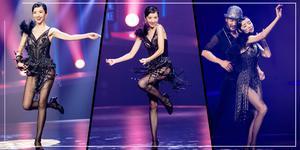 太美了!董洁穿透视黑纱裙跳舞性感迷人