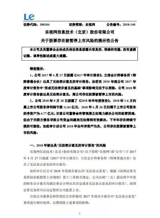"""贾跃亭被强平风险激增 孙宏斌再当""""白衣骑士""""?"""