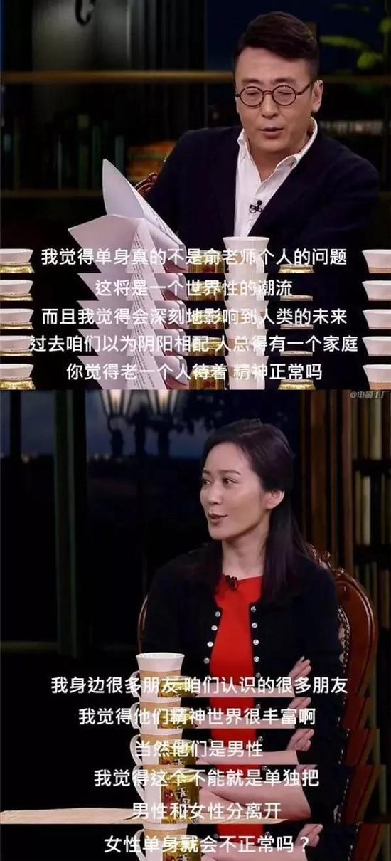 俞飞鸿在一档谈话节目上与主持人窦文涛的对谈片段 / 圆桌派