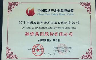 品牌价值188亿,融侨集团荣膺2018中国房企品牌价值18