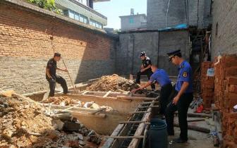 三江口无违建综合执法中队成立 一周拆4处地基违建