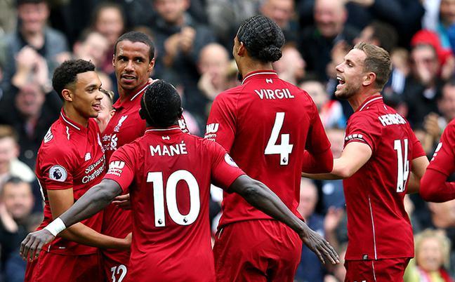 英超:利物浦3-0南安普敦收获6连胜