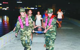 广西海警紧急救援 涠洲岛两危重病患脱离生命危险