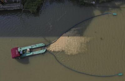 温州新型清理船 1h保洁10万平河面