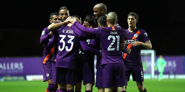 联赛杯-热苏斯头槌小将破门 曼城3-0牛津联