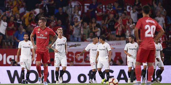 A席梅开二度马塞洛受伤 塞维利亚3-0皇马
