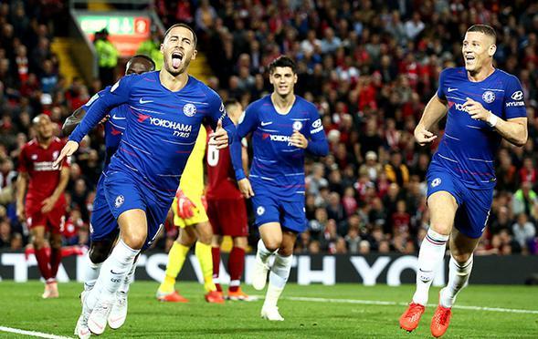 联赛杯-阿扎尔绝杀 切尔西胜利物浦