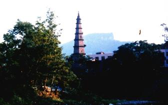 故乡 那塔那河那石拱桥 My Hometown—the Tower (Tian Xiang Ta, Liangping), the Xih
