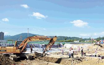 龙岩实验学校项目建设紧张有序地推进中