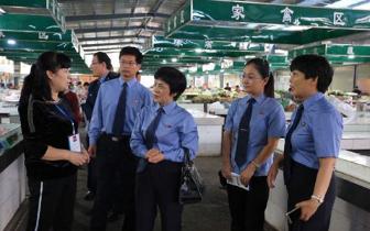 梁园区检察院同食药监等部门在市场开展安全检查