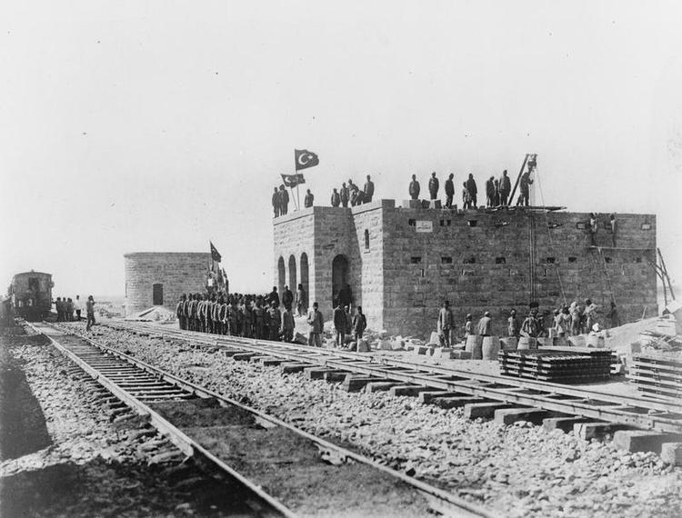 汉志铁路沿线的奥斯曼帝国军队据点