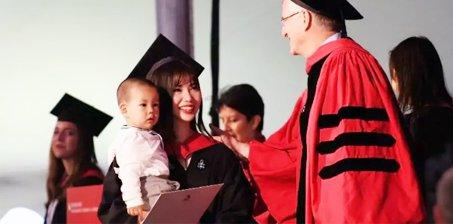 美女学霸22岁带娃哈佛硕士毕业背后真相