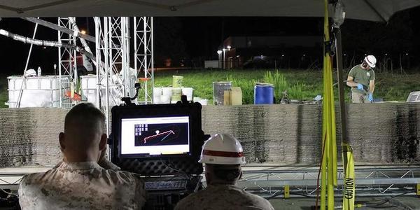 黑科技:美军使用混凝土3D打印造营房