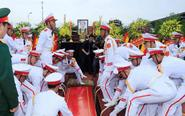 已故越南国家主席遗体下葬