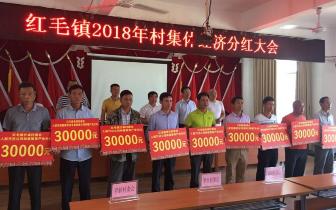 琼中红毛镇11村集体经济再领33万分红款