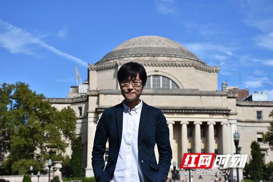 哥伦比亚大学教育组织与管理专业的研究生一年级学生 孙祥喆