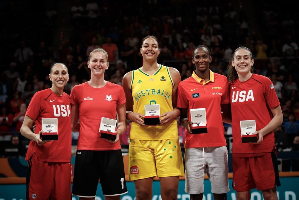 女篮世界杯最佳阵容出炉:美国2人入选 无中国球员