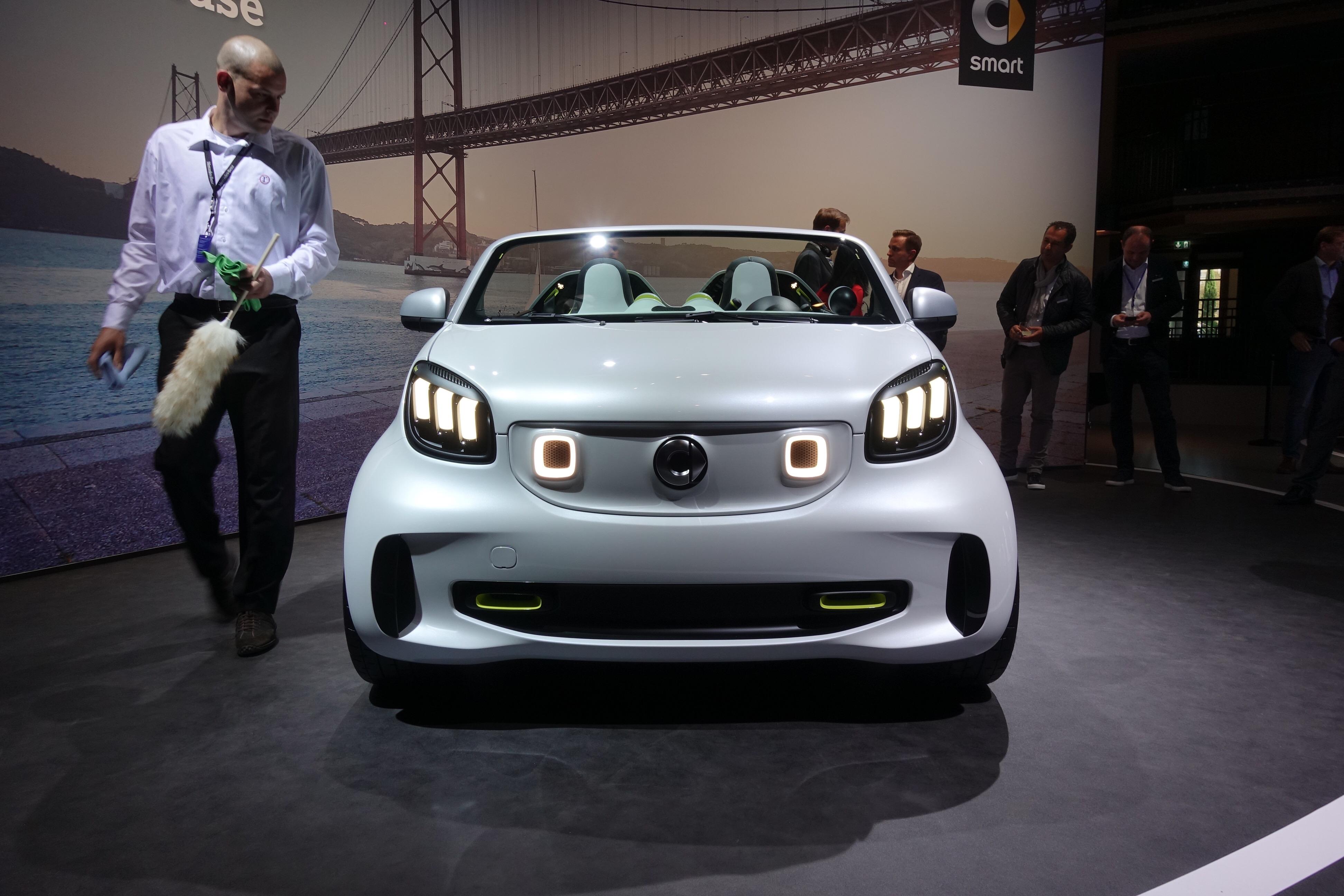 纯电动敞篷车 smart forease概念车发布