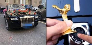 为讨要喜糖 男子不慎折断婚车18万镀金车标