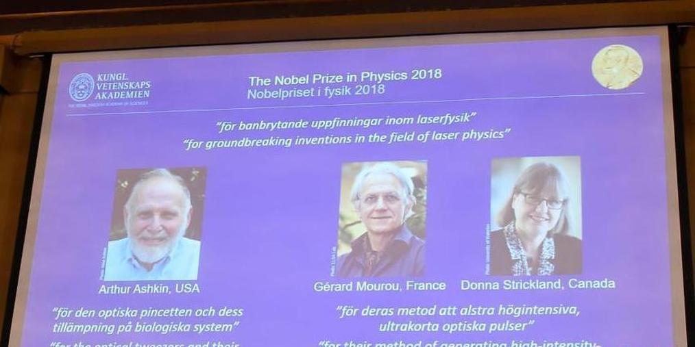 美法加三名科学家获诺贝尔物理学奖