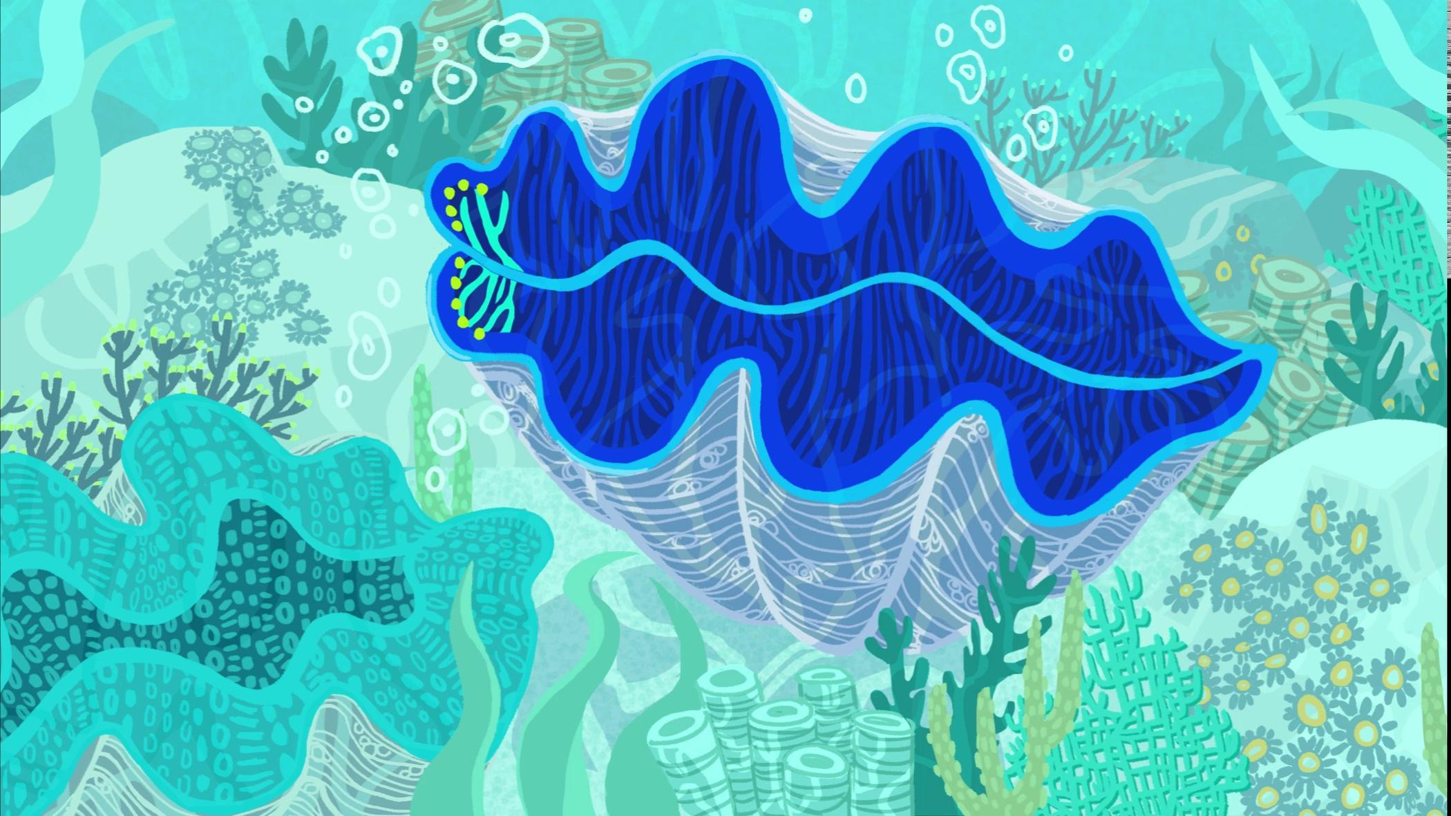 潜水者发现神秘发光巨蛤,听说有拯救地球的潜力?