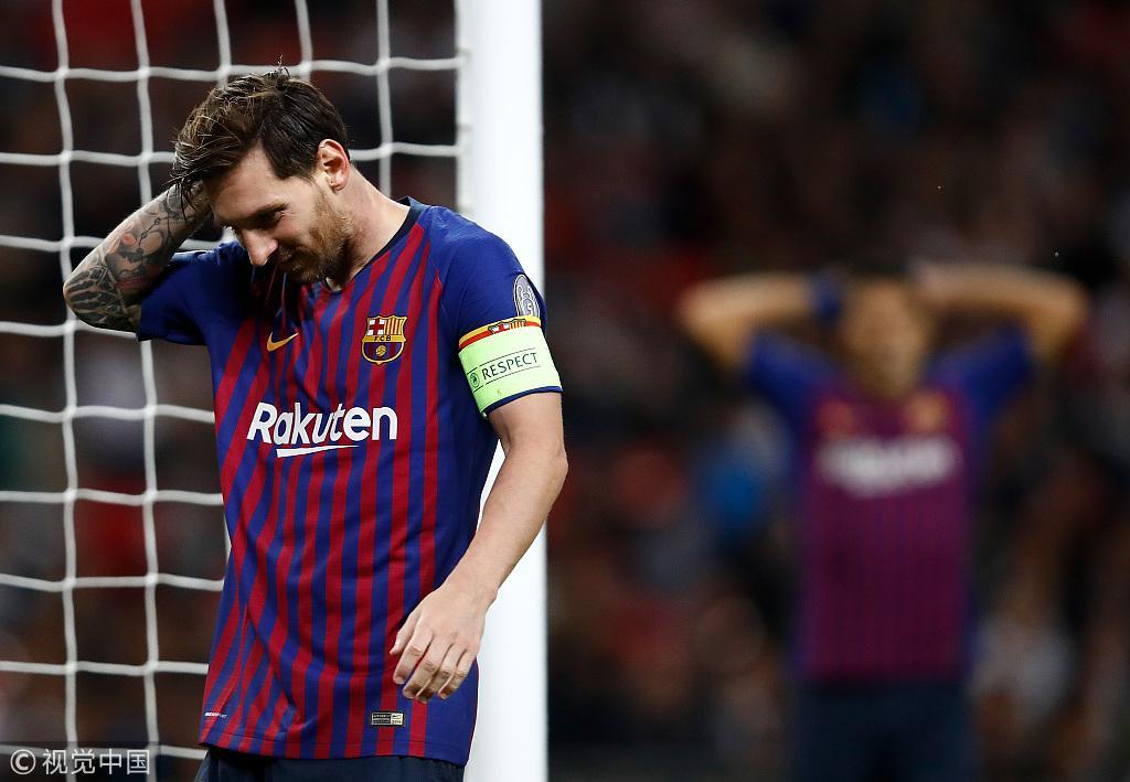 日常打铁!人类阻止不了梅西进球 但是门柱可以