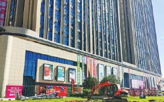 闽侯县城首个大型商业综合体加紧装修 将于12月开门