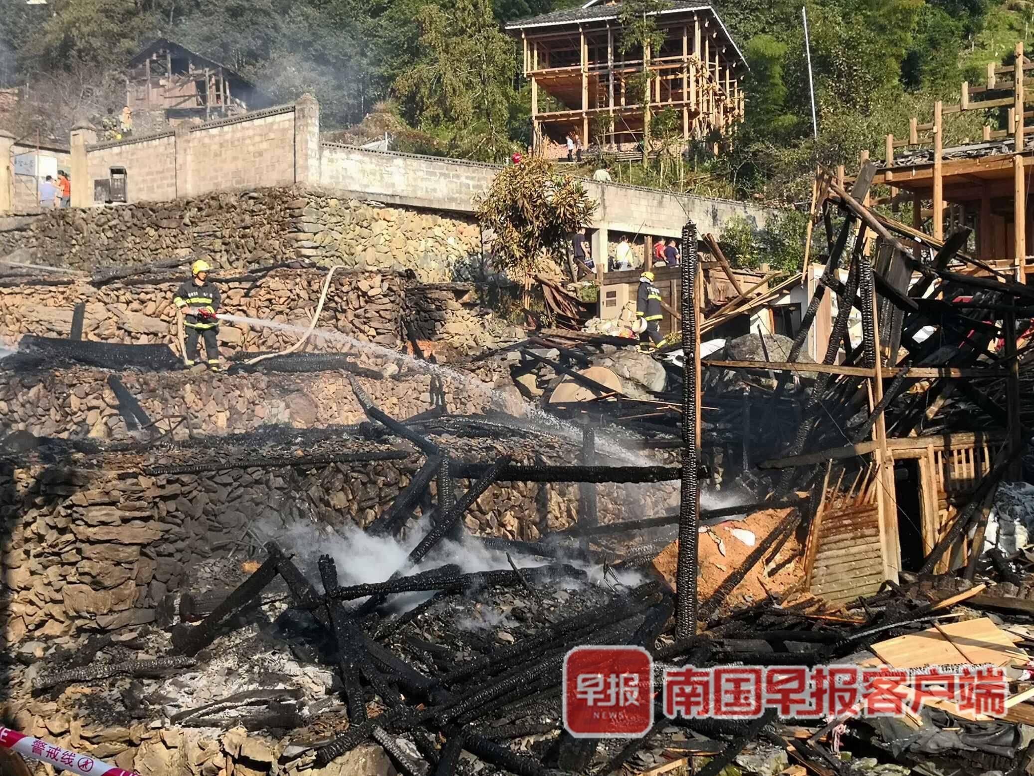 广西龙脊梯田火灾致37户被毁 嫌犯涉失火罪被批捕