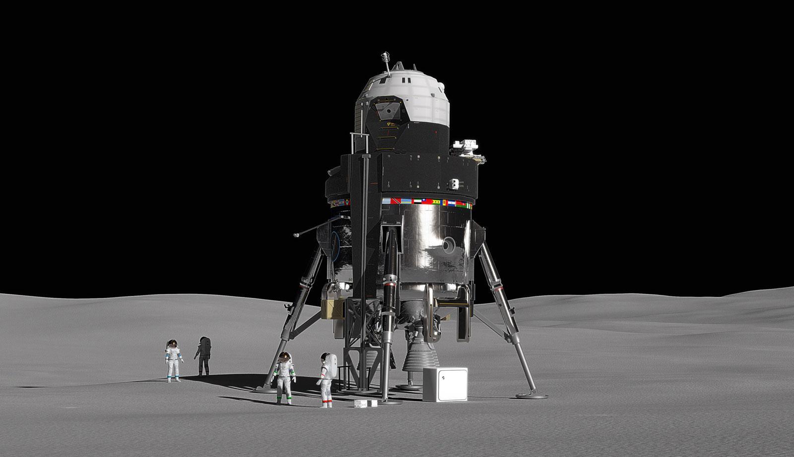 洛马展示概念登月舱:能运送4名宇航员+重复使用