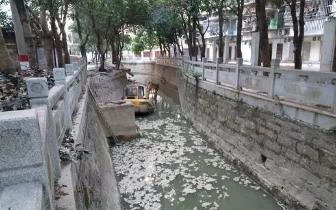 福州旧树兜河恶臭问题仍未解决 治理工程施工停滞