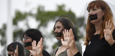 抗议者反对卡瓦诺出任美国大法官