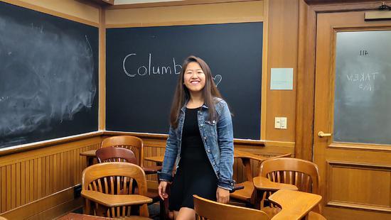 就读于哥伦比亚大学金融工程专业的隋同学