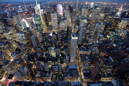 曼哈顿夜景(周成刚/摄)