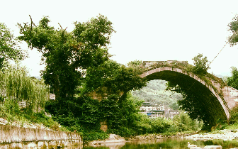 曲水万善桥 Wanshan Bridge, Zhongfengcun, Liangping, Chongqing