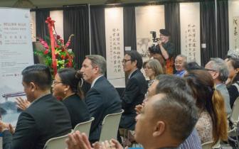 """""""汉字五千年""""中国诗书画印展在拉斯维加斯举行"""
