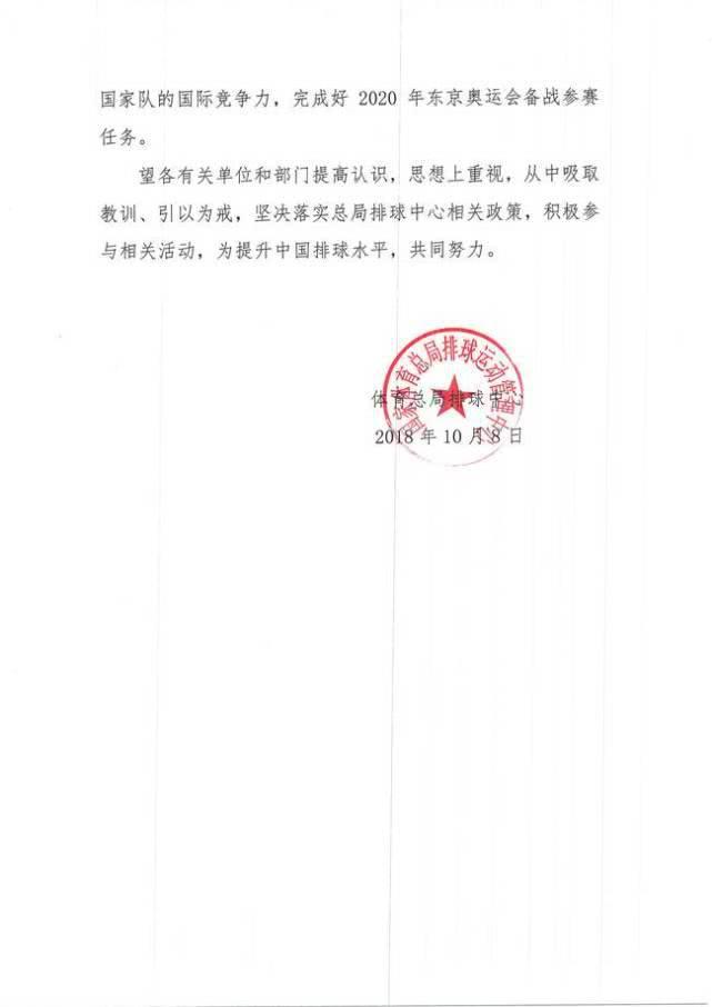 江苏女排被排球中心通报批评:各种借口不参加集训