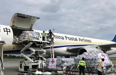 中国首批人道主义救灾物资运抵印尼
