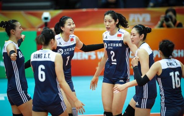 女排世锦赛中国3-1俄罗斯