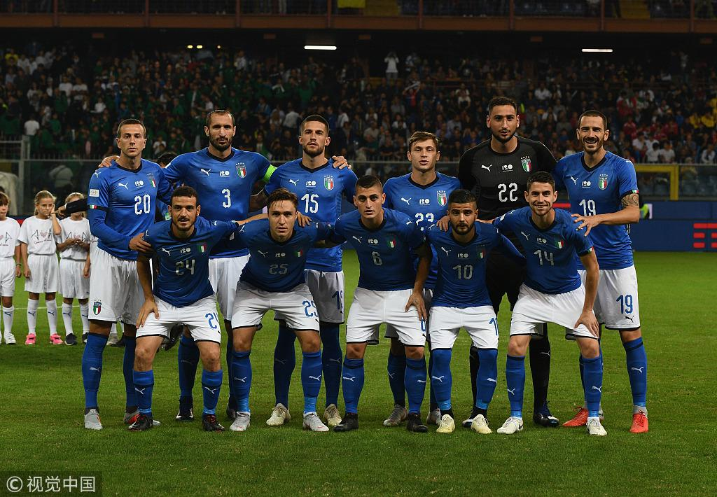 意大利本场的首发11人
