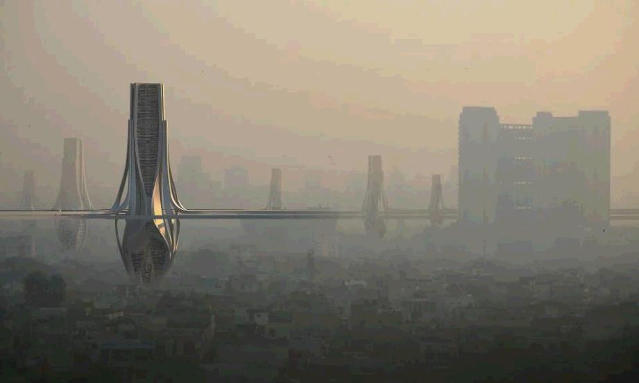 迪拜拟造巨型除霾塔 每天净化超320万m?清洁空气