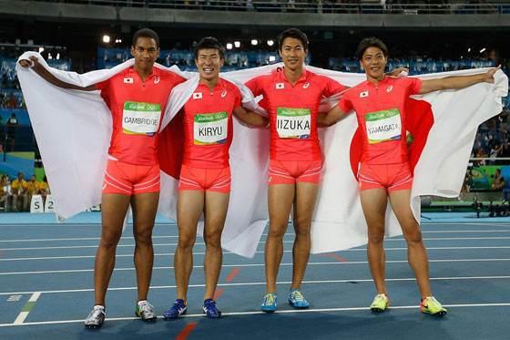 日本男子4x100接力队