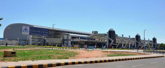 事发地印度南部的蒂鲁吉拉帕利机场