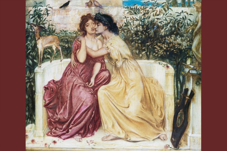 后世画家描绘萨福与女学生的暧昧关系