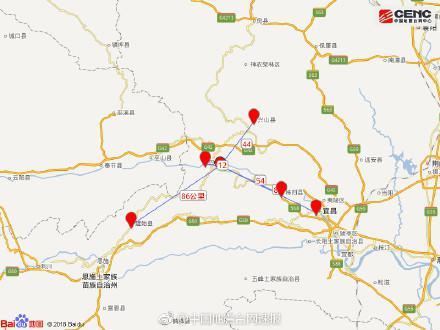 湖北秭归巴东发生多次地震 无人员伤亡报告