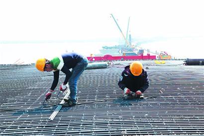 跨海大桥胶州连接线工程进展过六成 2020年通车