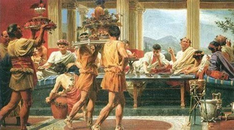 柏拉图《会饮篇》的场景