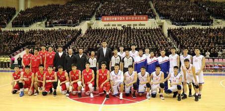 中朝混编友谊赛在平壤举行 姚明观战心情好
