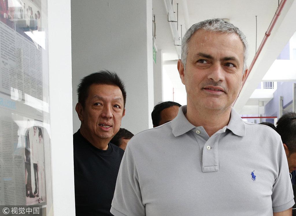 2016年初,穆里尼奥曾到访新加坡