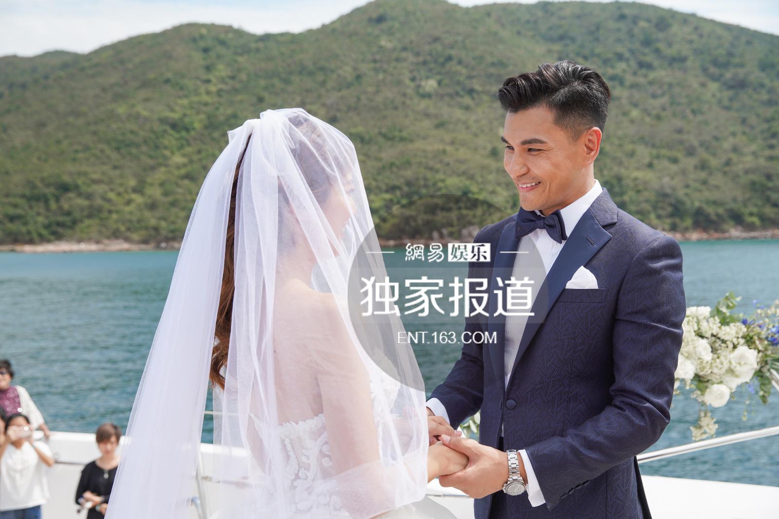 TVB视帝陈展鹏迎娶单文柔. 海上浪漫行礼