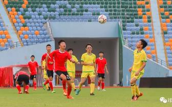 梅县中小学足球联赛 完中组首轮丙中大胜